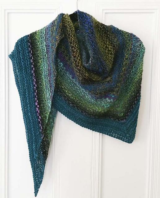 Ravelry Noro Woven Stitch Shawl Pattern By Z Apasi