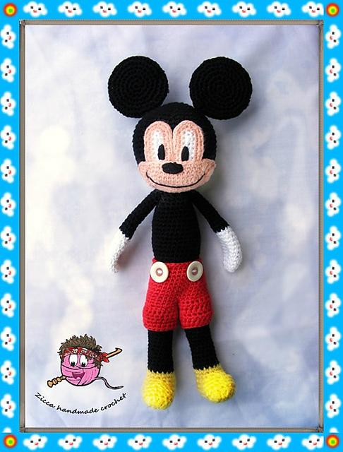 Ravelry Mickey Mouse Doll Pattern By Ilona Ziber