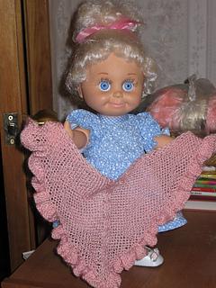 Ravelry American Girl Doll Ruffle Shawl Pattern By Elaine Phillips