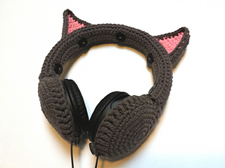 2933a798ea8 Ravelry: Cat Ears Headphones Cover pattern by Stacy Clement-Kazimir