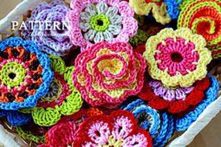 Ravelry Big Flower Party Collection Of 10 Crochet Flowers And