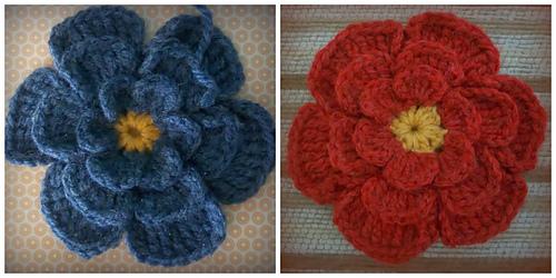 Ravelry Big Flower Crochet Brooch Pattern By Zelna Olivier